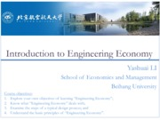 Engineering Economy 01 Introduction to Engineering Economy