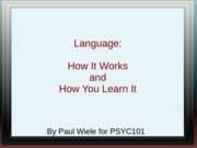 Lecture 16SV- Language