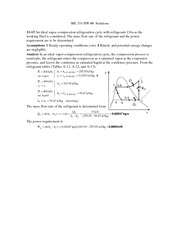 Homework 8 Solution on Thermodynamic System Engineering