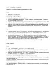 Critical Thinking Exam 1 Study Guide.docx