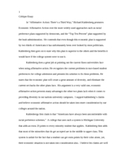 affirmitive action essay