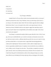 Gene Therapy 4 Blindness- analysis essay.docx