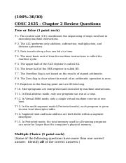 COSC 2425 Chapter 2 Questions.docx