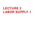 Lecture 2 Labor Supply 1 post