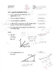 Geometry 218 - Quiz 2.1-2.5 with Answers