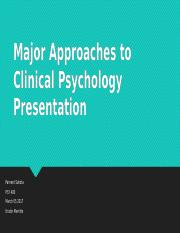 describe two of the major approaches There are several major approaches in psychology: psychodynamic, behaviouristic, humanistic and cognitive this essay focuses on psychodynamic and describe the contributions to society of the cognitive and psychodynamic approaches, and compare the two approaches in terms of their.