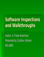 Intro Software inspection ppt
