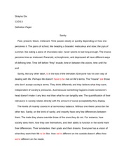 Sample Definition Essay