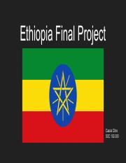 Ethiopia Final Project