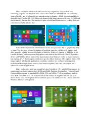 Windows 8 and Linux.docx