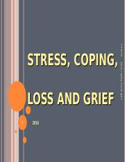 Stress, coping, loss & grief