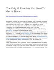 The Only 12 Exercises You Need To Get In