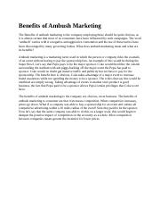 Benefits of Ambush Marketing