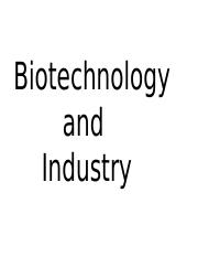 Biotechnology and Industry.pptx