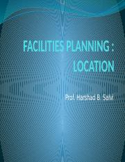FACILITIES PLANNING- Plant Location