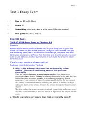 BUL2241 Test 1 Essay Exam.docx