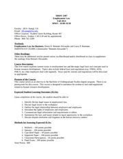 HRDV 3307 syllabus fall 2014 js