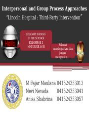 Lincoln Hospital- chapter 10