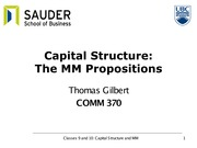 Classes 9 and 10 - Capital structure and MM(1) (1)