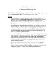 MLA Essay Instructons - Reading.doc