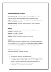 Study Guide Establishing and Restoring Performance