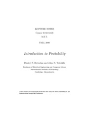 Bertsekas_ Tsitsiklis. Introduction to probability (MIT lecture notes_ 2000)(284s)