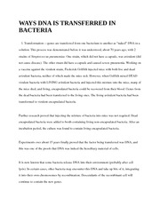 WAYS DNA IS TRANSFERRED IN BACTERI1