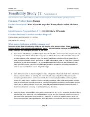 Feasibility Analysis 1