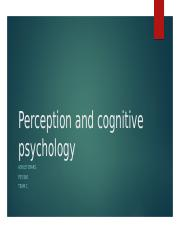 Perception and cognitive psychology