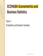 Topic_Probabilities and Random Variables