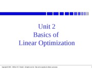 Unit 02 Basics Linear Optim
