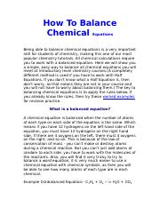How_To_Balance_Chemical_Equations