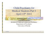 Disorders of Childhood and Adolescence, Part 1