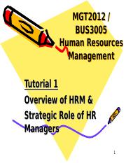Tutorial 1 Overview of HRM_1617