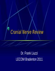 Cranial Nerve Review 2011.ppt