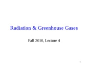 Radiation & Greenhouse_Gases_F10_Lect4