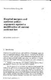 PUB Hospital Mergers and Antitrust - Magleby