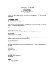 dzenana resume 1.rtf