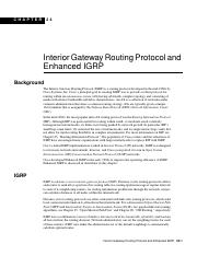 Interior Gateway Routing Protocol and Enhanced IGRP