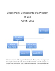 Components of a Program