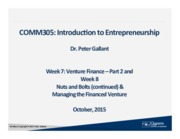 COMM305 F2015 Week 7 Part 2 and 8 Slides