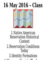 Reservation History and Alexie's Tonto (1)