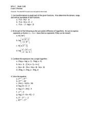 Math 1148 Exam 3 Review