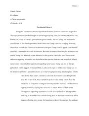 First Presidential Debate Essay.docx