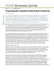 Projecting the Long-Run Natural Rate of Interest