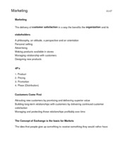 Marketing Management (MGCR352) Notes
