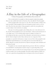 Final Project Part 1 - Day in the Life of a Geographer.pdf
