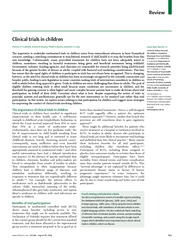 Children Clin Trials Lancet 2004