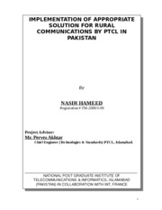 thesis on pakistan telecommunication