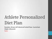 Athlete Personalized Diet Plan Football Lecture Slides